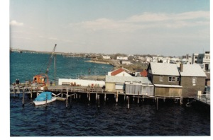 Another view of the Bridge Cafe (now Thai Rock) from the Cross Bay Bridge. You can see the old Texaco station (Nick's) in the background.
